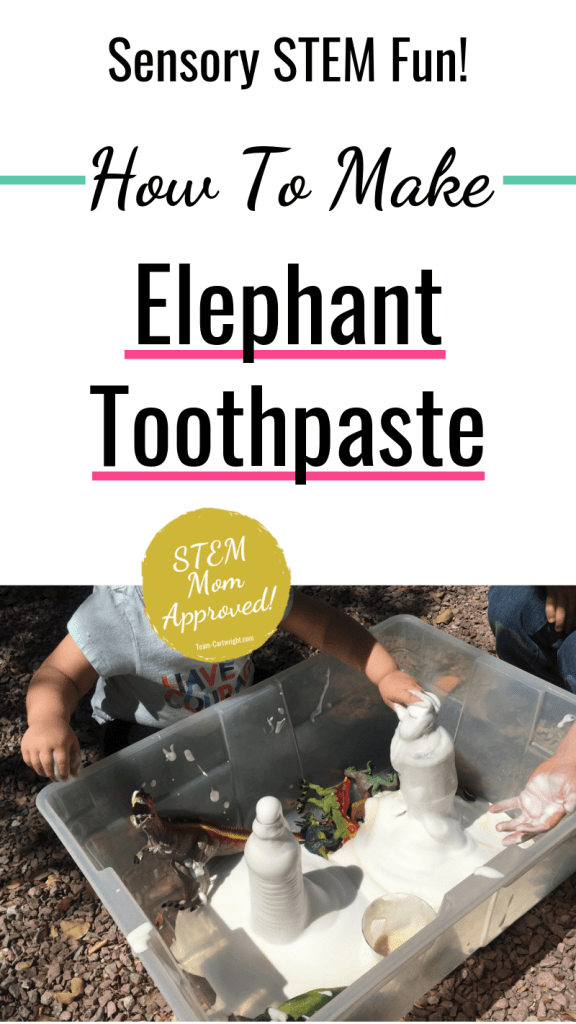 Sensory STEM Fun How To Make Elephant Toothpaste picture