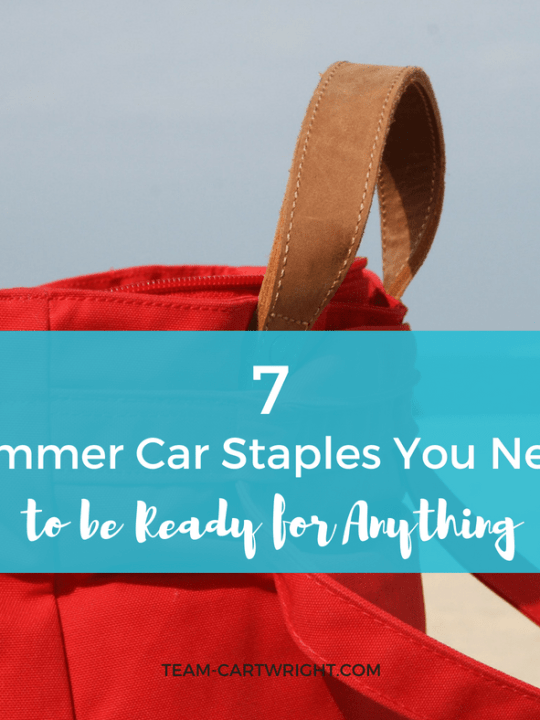 7 Summer car staples you need to be ready for anything. Everything you need packed in your car to be spontaneous with your kids this summer! #summerfun #summerschedule #carsupplies #toddlersupplies #preschoolsupplies #summerhacks #momhacks Team-Cartwright.com