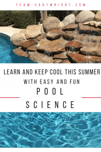 Easy and fun science activities to do in the pool! No prep, no need to pack anything extra. Use the pool to teach your kids about science. 4 simple explanations and things to try! #summer #swimming #pool #science #stem #activity #toddler #preschooler Team-Cartwright.com