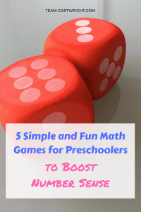 5 Simple and Fun Math Games to Boost Number Sense! Learn what number sense is and why it matters along with 5 easy games to teach your children. Plus grab some printables to help out! #number #sense #learning #activity #counting #toddler #preschool #homeschool Team-Cartwright.com