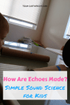 Teach your children how echoes work with easy at home items. Plus 3 more activities to learn how sound waves work! #learning #activity #science #sound #easy #preschool Team-Cartwright.com