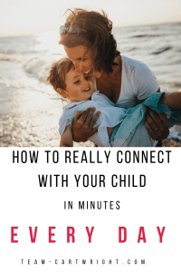 How to really connect with your child in minutes every day. We are all busy moms. Taking a few minutes every day to really see your child and parent to their heart helps prioritize your bond. #positiveparenting #parenttotheheart #gentleparenting #bonding #toddler #preschooler #child #kid #parenting #discipline Team-Cartwright.com