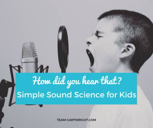 Simple Sound Science Activities for Kids! Easy ways to explore sound waves and how they work. #sound #science #learning #activity #preschool #STEM Team-Cartwright.com