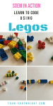 Teach your kids coding basics with Legos! 4 levels of activities for kids of all ages, toddler and up. Color sorting, pattern recognition, and basic codes included. #coding #legos #STEM #learning #activity #toddler #preschooler #kid Team-Cartwright.com