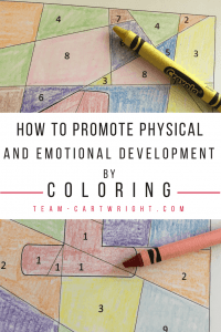 How to promote physical and emotional development by coloring. This classic activity is teaching your children so much. Learn why it matters and get free coloring pages! #coloring #learning #activity #childhood #development #preschool #toddler #free #worksheet #homeschool Team-Cartwright.com