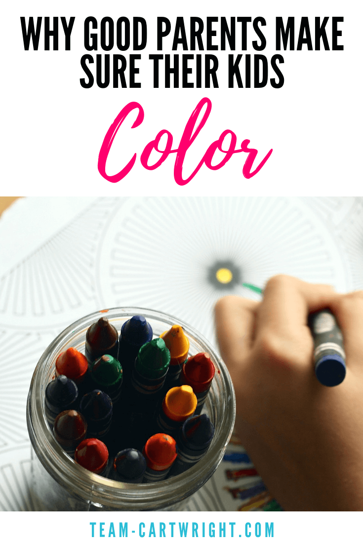 Kids need to color. Seriously, this classic pastime is full of learning. From learning colors to pre-writing skills, coloring is something every child should do. Learn why and get some free printable coloring pages. #coloring #coloringpages #freeprintable #finemotorskills #prewritingskills #colors #development #creativethinking #laerningactivity Team-Cartwright.com