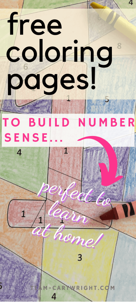 free coloring pages to build number sense
