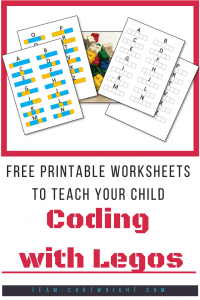 Teach your children coding with legos! These free printables will help kids learn about coding. #coding #legos #learning #activity #printable #free #kids Team-Cartwright.com