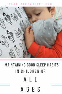 Maintain good sleep habits in older children and learn how Babywise can help all babies. #naps #sleep #babywise Team-Cartwright.com