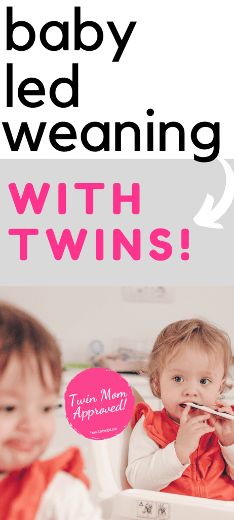 baby led weaning with twins