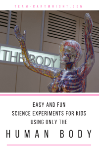 Easy and Fun Science Experiments for Kids Using Only the Human Body. Challenge perception and muscle behavior with these safe and simple experiments. Plus get all the explanations for what is happening! #STEM #learning #activity #science #experiments #kids #preschool #human #body Team-Cartwright.com