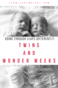 Why do twins hit leaps differently? Learn all about twins and the Wonder Weeks. #twins #wonder #weeks #baby #newborn #development #leaps #milestone Team-Cartwright.com