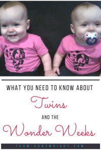 Wonder Weeks and Twins: Learn how to best utilize the wonder week information with your twins. #wonder #weeks #twins #baby #newborn #development #leaps Team-Cartwright.com