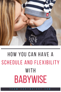 Having a schedule is so helpful with babies and little ones. But I didn't want to be rigid and unable to live life. Luckily you can build flexibility into your routine. Here is how to have flexibility with Babywise. #schedules #newborn #baby #toddler #routine #babywise #flexibility Team-Cartwright.com