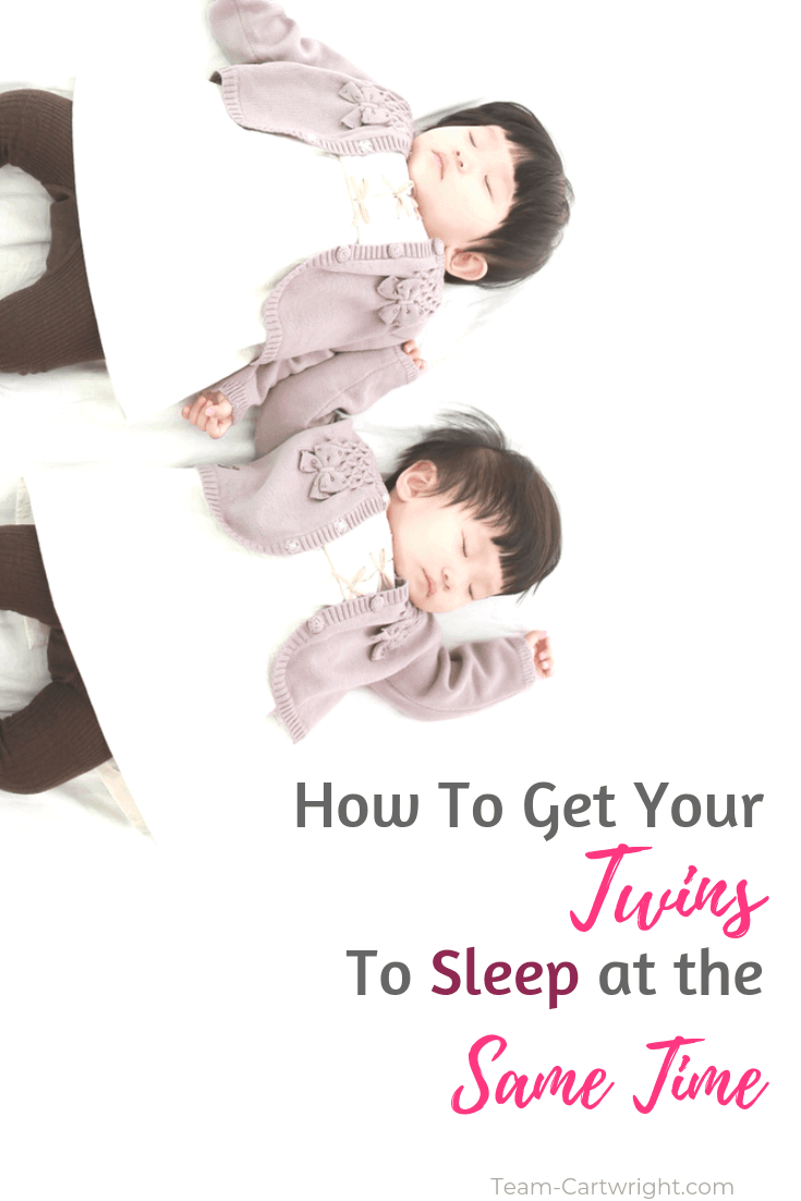 Learn how to get your twins to sleep at the same time. How do you do it? Get them on a schedule! Here is how to help your twins sleep and nap at the same time. You can do it! #TwinSleep #TwinSleepTips #TwinNap #TwinSchedule #TwinSameSchedule #TwinSleepSameTime Team-Cartwright.com