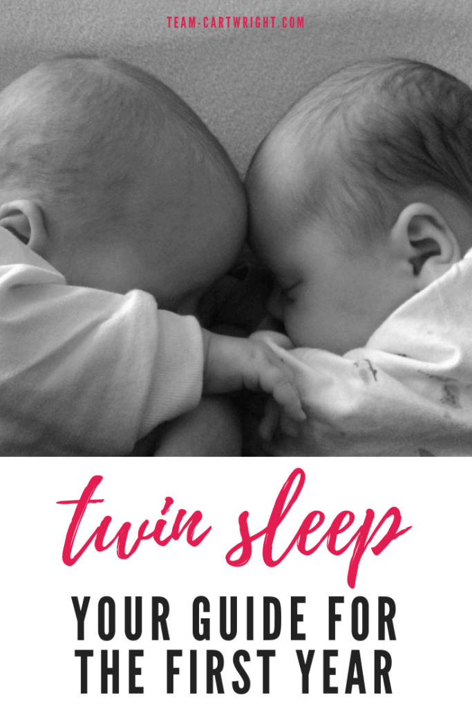 Twin Sleep: Your guide for the first year. Everything you need to know about getting your twins to sleep. Twin beds, twin cribs, naps, nighttime sleep, safety. Help from a real twin mom. #twins #baby #naps #sleep #eatplaysleep #twinnap #twinsleep #twincribs #safesleep Team-Cartwright.com