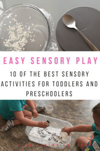 10 easy and fun sensory play idea for toddlers and preschoolers. Learn why sensory play matters and get the best sensory activities that your kids will love! #sensory #sensoryplay #sensoryactivity #preschool #toddler #learning #senses #games Team-Cartwright.com