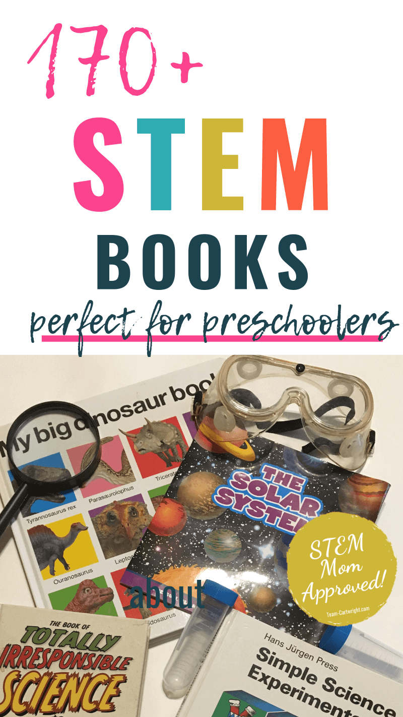170+ STEM Books perfect for preschoolers with picture of STEM books