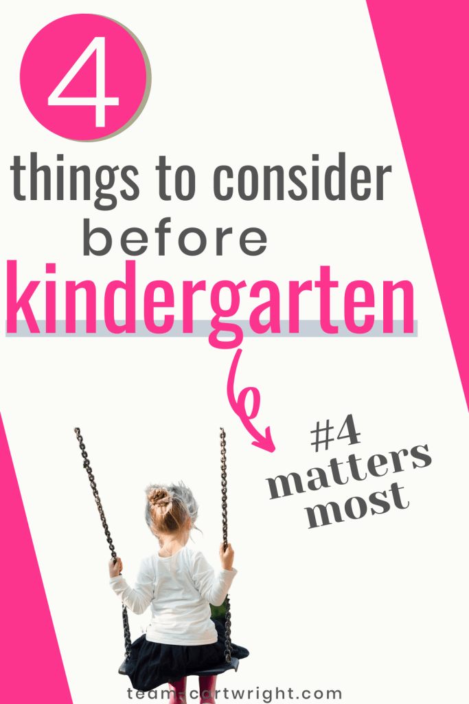 4 things to consider before kindergarten