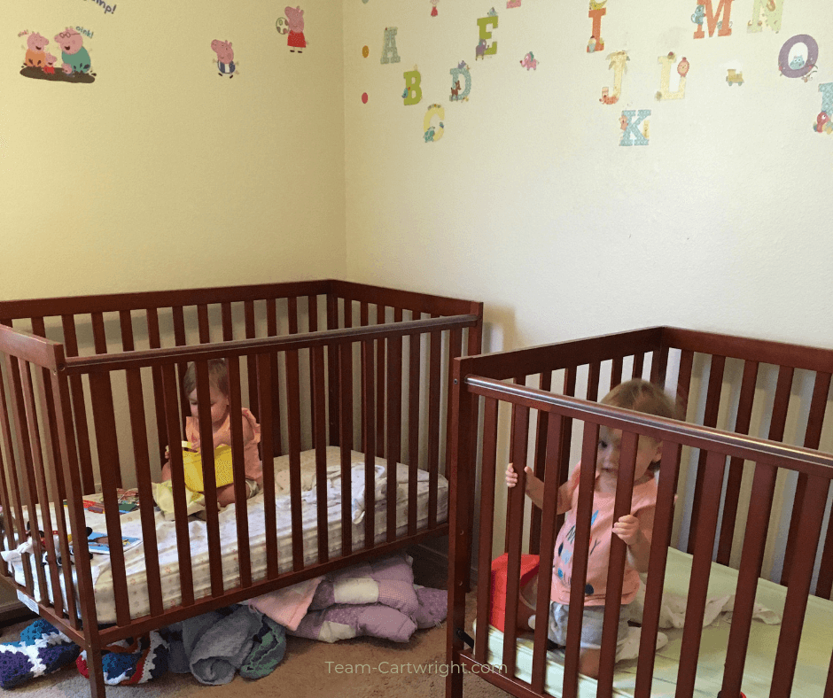 How to survive the 2 year old sleep regression with twins. Learn why regressions happen, how being a twin changes things, and ways to get through this tough time. #Twins #TwinSleep #SleepRegression #2YearOld #ToddlerTwin #TwinNaps Team-Cartwright.com