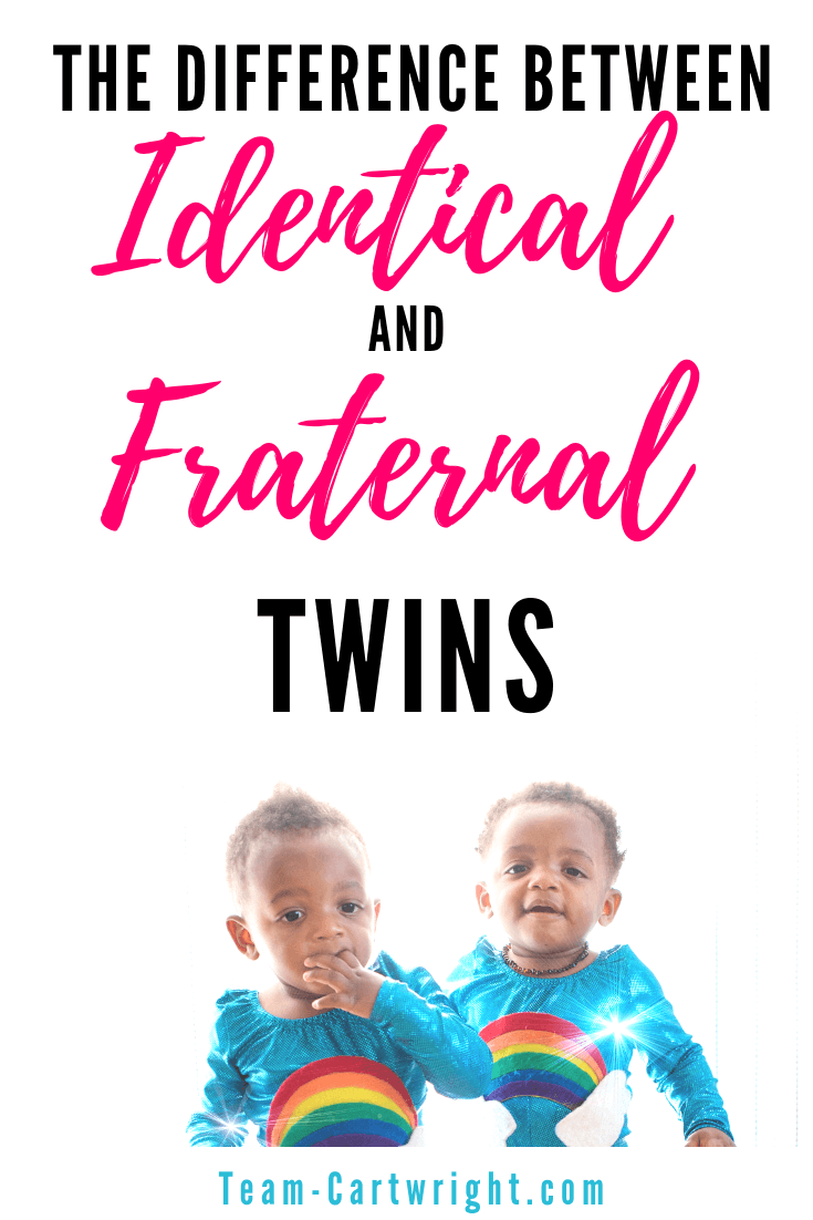 What makes identical twins different from fraternal twins? And how to do you know which twin type you have? Learn about twin zygosity and how twins grown in the womb. #TwinPregnancy #TwinFacts #Twinning #IdenticalTwins #FraternalTwins #TwinTips #NewbornTwins Team-Cartwright.com