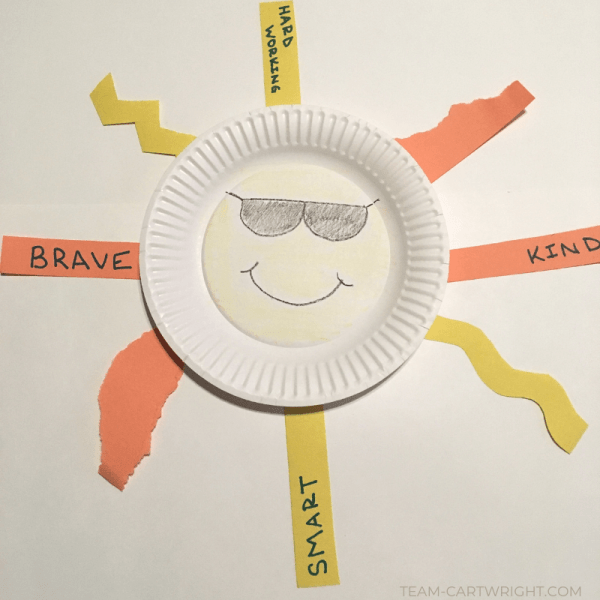 Easy Preschool Sunshine Craft:  Building Kindness and Fine Motor Skills