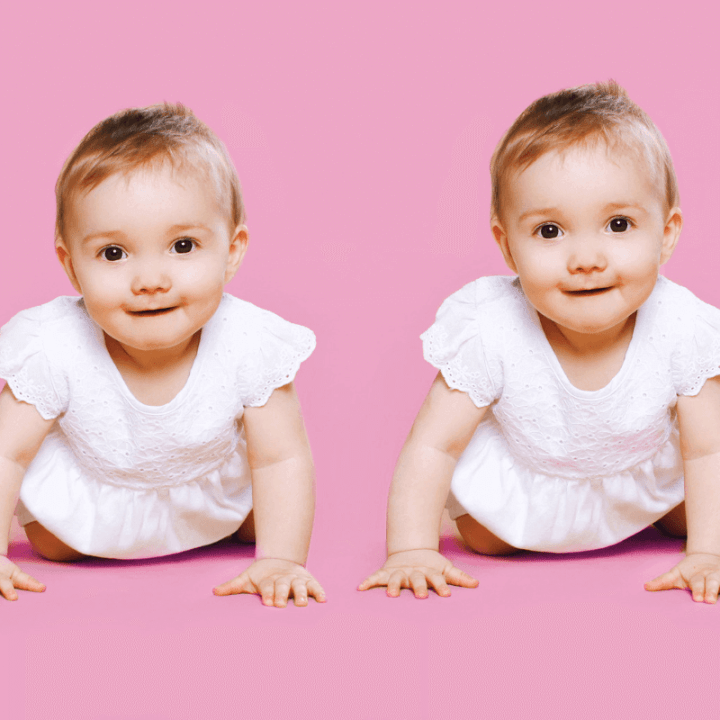 Do twins hit milestones at the same time? Usually not, and that can cause concern. Here is what to do when your twins reach developmental milestones at different times. #TwinMilestones #BabyTwins #TwinDevelopment #ToddlerTwins Team-Cartwright.com