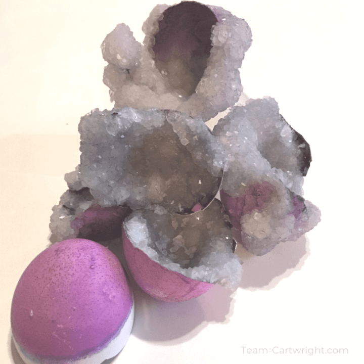 image of purple Easter egg geodes