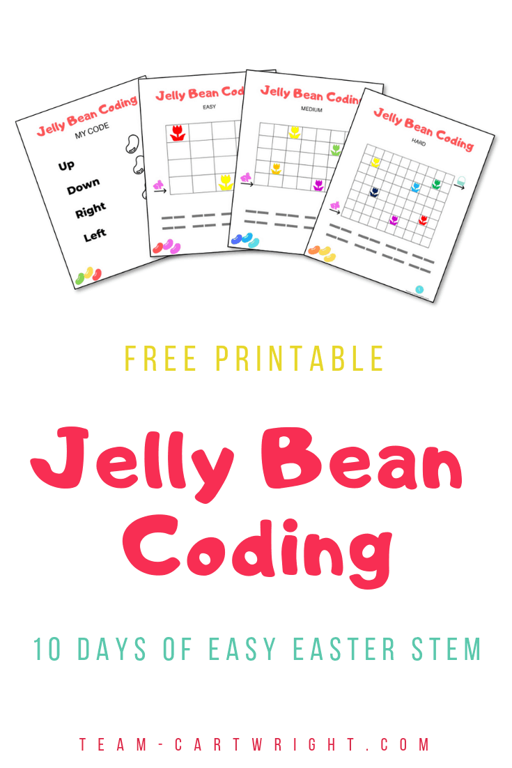 picture of jelly bean coding worksheets with text free printable jelly bean coding 10 days of easy easter STEM