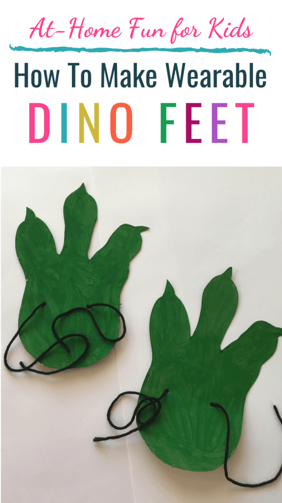 How To Make Wearable Dino Feet: At Home Fun for Kids