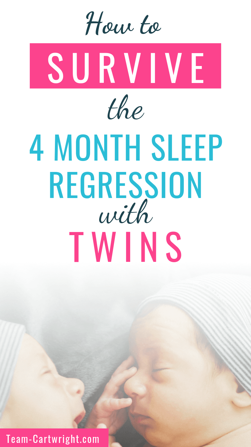 How To Survive the 4 Month Sleep Regression with Twins
