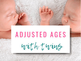 Adjusted ages for twins