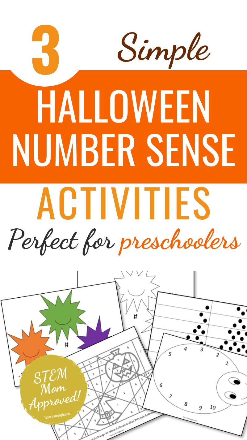 3 Simple Halloween Number Sense Activities