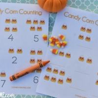 Candy Corn Counting: A hands on preschool fall math activity.