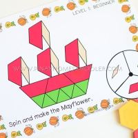 Thanksgiving Pattern Blocks Spin and Build