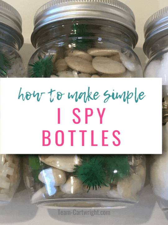 How To Make Simple I Spy Bottles