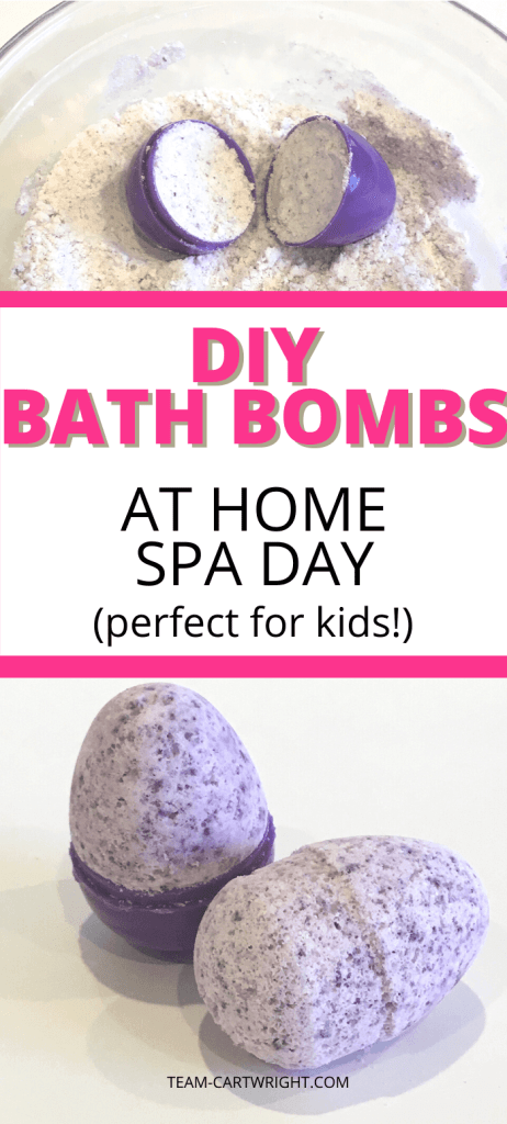 DIY Bath Bombs for at home spa day (perfect for kids!)