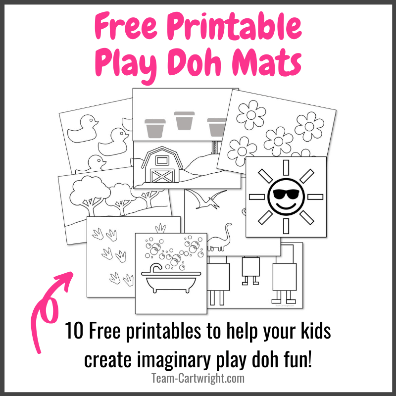 Free Printable Play Doh Mats for Kids