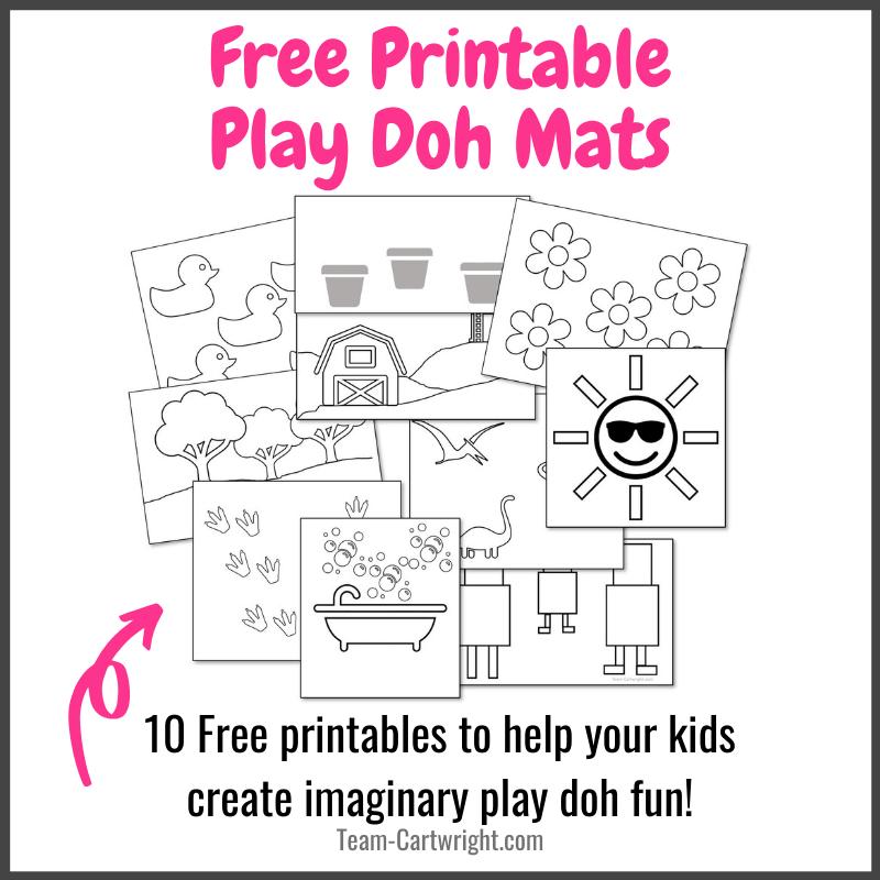 Free Printable Play Doh Mats for Kids