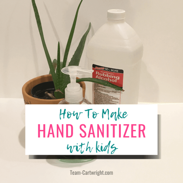 How To Make DIY Hand Sanitizer with Kids (and the Science of Sanitizer!)