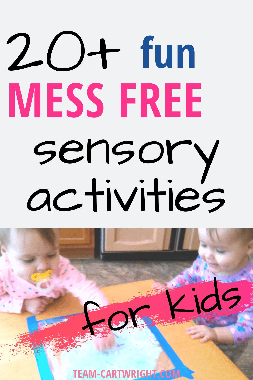 20+ fun mess free sensory activities for kids