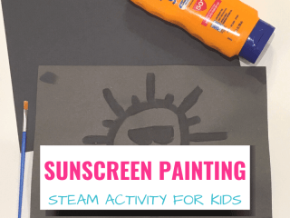 sunscreen painting STEAM for kids