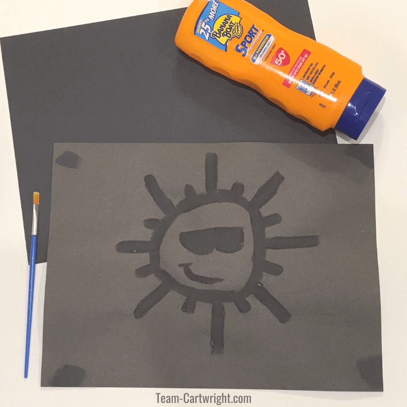 Sunscreen painting STEAM activity