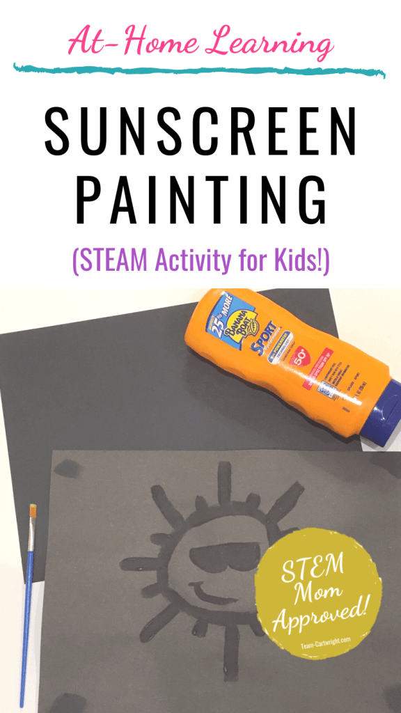 STEAM activity sunscreen painting