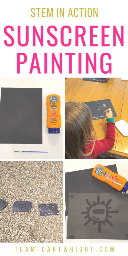 Sunscreen painting STEAM project for kids