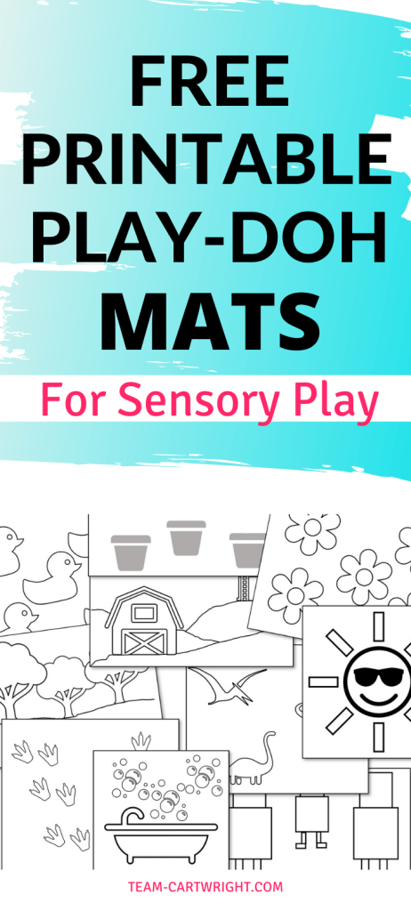 free printable play-doh mats for sensory play with picture of available printables