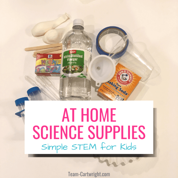 Preschool Science Supplies for At-Home Learning