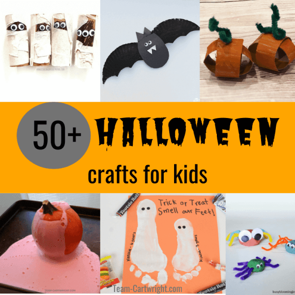 50+ Halloween Crafts for Preschool and Toddlers