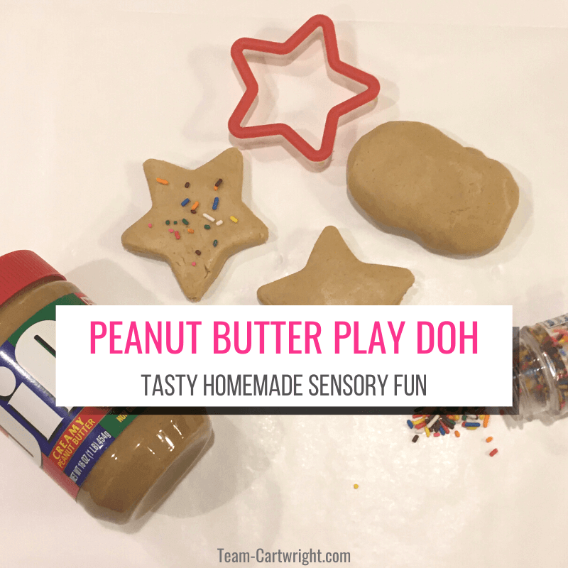 Peanut Butter Play Doh Taste Homemade Sensory Fun with picture of peanut butter playdough