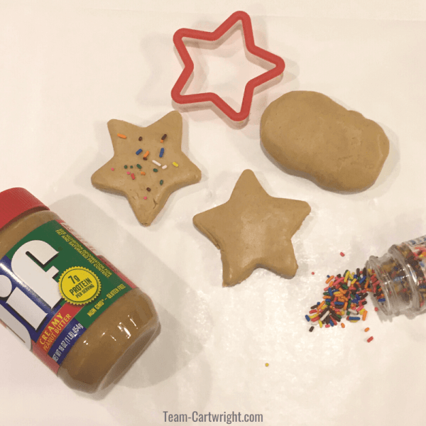 Peanut Butter Playdough: 2 Ingredient Edible Playdough